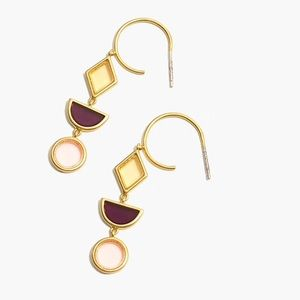 Madewell stained glass drop hoop earring